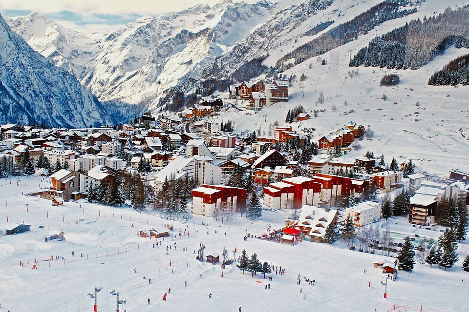 Nice ski resort in the moutains