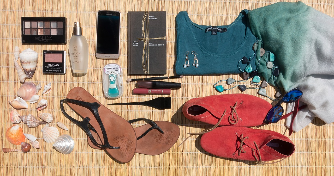 prepare suitcase holidays shoes clothes phone